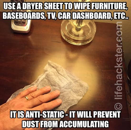 Anti Static Sheets : Dryer sheets anti static duster life hackster